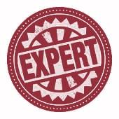 """Médaillon avec écriture """"Expert"""""""